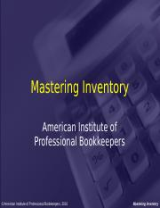 Mastering Inventory PowerPoint Presentation.ppt