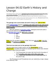 Lesson 04.02 Earth's History and Change; Notes.docx