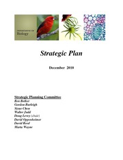 Biology Strategic Plan 12-16-2010