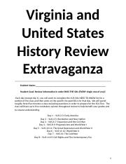 VUS History Review Packet