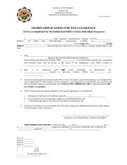 SWORN APPLICATION FOR TAX CLEARANCE- NON-IND.docx