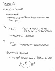 CHEM 240- Section 3 Notes