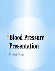 Blood Pressure Presentation
