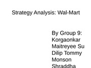 Strategy Analysis - Walmart