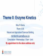 2.1 Enzyme Kinetics (Tablet Users)