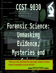 Lecture 1 - History and development of forensic science ppt - CCST