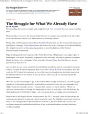 NYT+090310+-+The+Struggle+for+What+We+Already+Have
