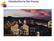 Class 1 - Introduction to the Course