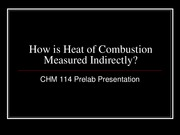How is Heat of Combustion Measured Indirectly_114 Prelab(4)