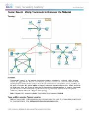4.1.1.8 Packet Tracer - Using Traceroute to Discover the Network instructions