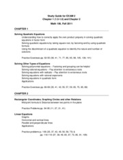 Math 106 Exam 2 Study Guide