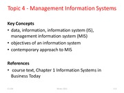 Topic 4 Information systems