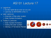 AS101 Lecture 17