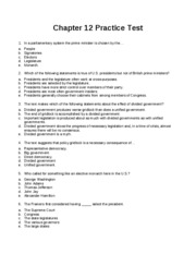 Chapter 12 Practice Test