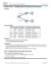 1.1.4.5 Packet Tracer - Configuring and Verifying a Small Network Instructions.pdf.docx