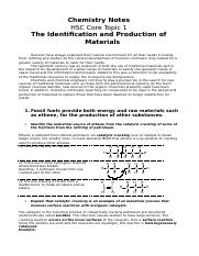 Core Topic 1-The Identification and Production of Materials