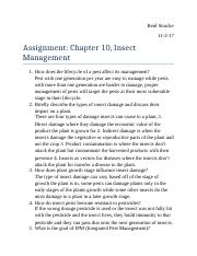 Assignment Chapter 10 Insect Management.docx