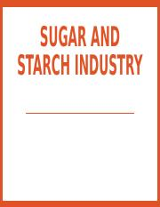 Sugar and starch industry