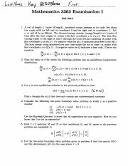 Solutions to Exam I_2 - fall2010