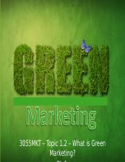 3055MKT_Topic 1.2 What is Green Marketing S.pptx
