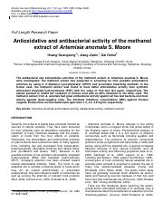 Antioxidative and antibacterial activity of the