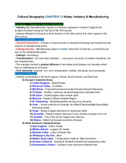 CulturalGeographyCH.11Notes