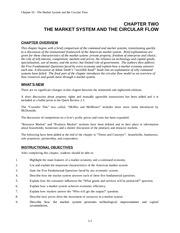 CHAPTER TWO: THE MARKET SYSTEM AND THE CIRCULAR FLOW