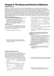 Chapter 3 (2) Study Guide