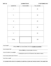 Exam _1 MCB 102 F12 ANS KEY