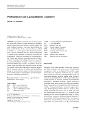 Pretreatment and Lignocellulosic Chemistry