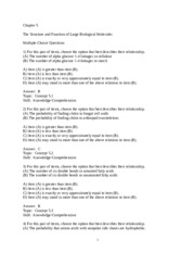 Chapter 5 Practice Questions w/Answers