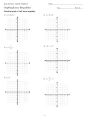 Graphing Linear Inequalities Worksheets Free Worksheets Library ...