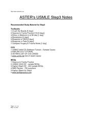 Aster USMLE Step 3 Notes  Aster USMLE Step 3 Notes [80899]