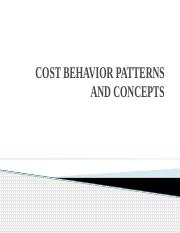 COST BEHAVIOR PATTERNS AND CONCEPTS.pptx