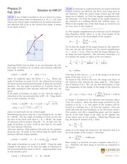 PHYSICS 21 Fall 2014 Homework 27 Solutions