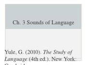 CH 3_The Sounds of Language