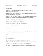 310-1 Winter 2008 PS2 Brief Answers