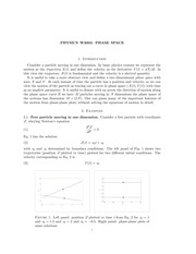 PHYS 3003 Phase Space Notes
