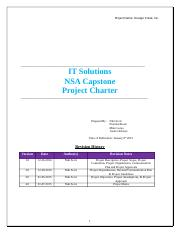 NT2799 Capstone Project Project Charter