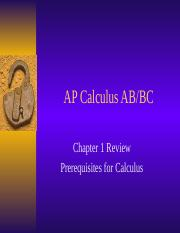chapter 1 review ap calculus.ppt
