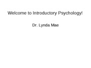 PGS 101, Lec 1 (Intro - History of Psychology)