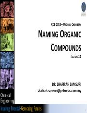 Lecture 2.2 Organic Chemistry.pdf