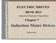 CHAP 7 - Induction Motor Drives