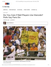 Do You Care If Ball Players Use Steroids_ Polls Say Fans Do _ The Two-Way _ NPR.pdf