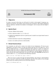 Homework B on Research Tools & Techniques in Computer Engineering