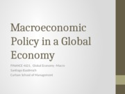 3 - Macroeconomic Policy in a Global Economy