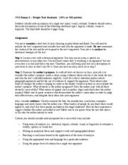 101 essay 3 single text analysis Teach students how to write an interpretive essay and how to write a literary analysis with these simple steps  slide 3 of 6 drafting and revising  teach how to write a literary.