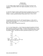 Physics 6B Ch18worksheet