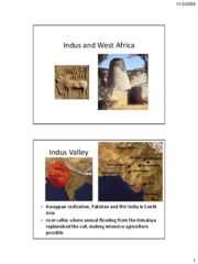 Lecture Nov 4 - Indus and West Africa (slides only)
