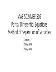 MAE 502 Method of Separation of Variables 20160906(1)